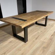 Massivholztisch Altholz Optik - Holz & Eisen
